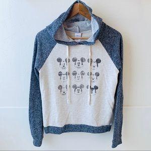 "Disney Tops - Mickey Mouse hooded ""emoji"" sweatshirt Disney M"